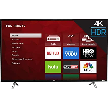 8f4c0660161 Amazon.com  TCL 43S403 43in 4K UHD HDR Roku Smart LED TV (Renewed)   Electronics