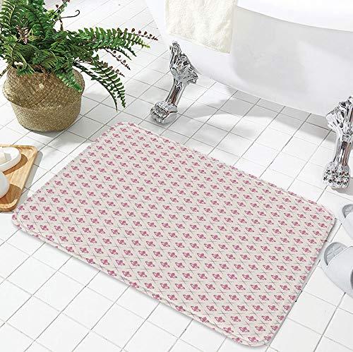 TecBillion Non-Slip Mat,Fleur De Lis,for Bathroom Kitchen Bedroom,23.62