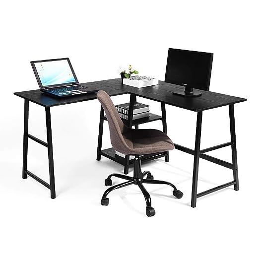 Escritorio de ordenador con cajón de ordenador, gran esquina en ...