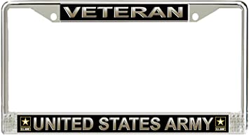 us army veteran license plate frame