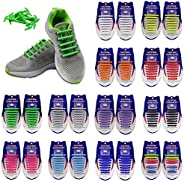 Kids and Adults Unisex No Tie Shoelaces Pack of Silicone Shoelaces for Sneakers Shoes Laces Solid Lazy Shoe La