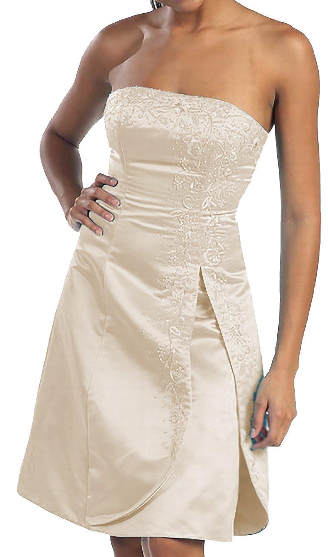 Abendkleid kurz Brautkleid Standesamtkleid Abi-Ballkleid Cocktail große Größen