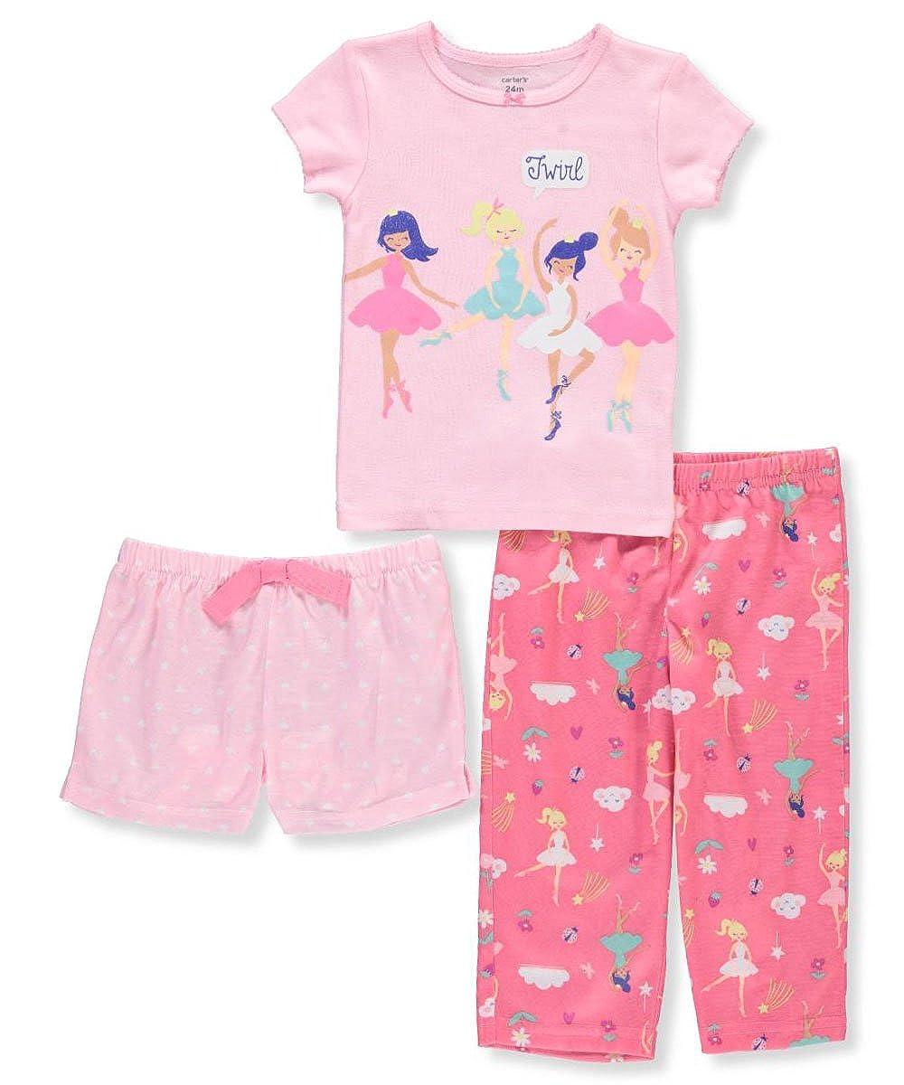 Carters Baby Girls 3 Piece Ballerina Jersey Pjs 12 Months