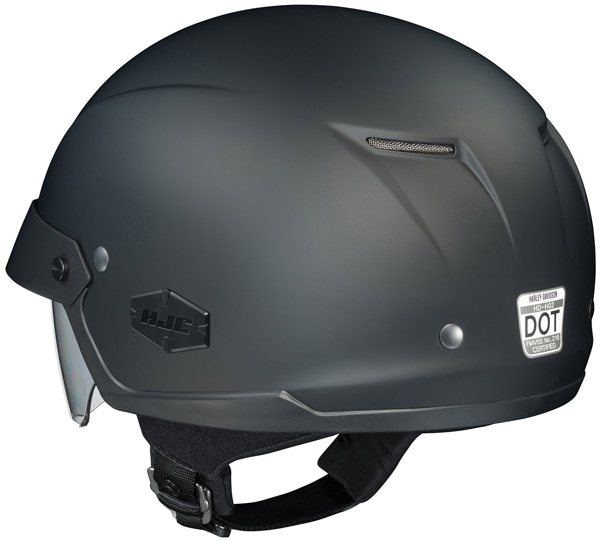 Amazon.com: HJC IS-Cruiser Motorcycle Half-Helmet (Matte Black, Large): Automotive