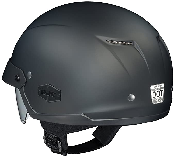 Amazon.com: HJC IS-Cruiser Motorcycle Half-Helmet (Matte Black, Medium): Automotive