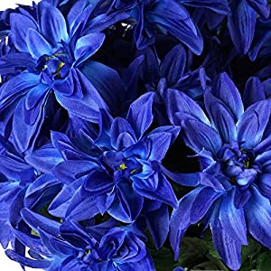Tableclothsfactory 56 Artificial Dahlia Artificial Wedding Flowers - Navy Blue 2