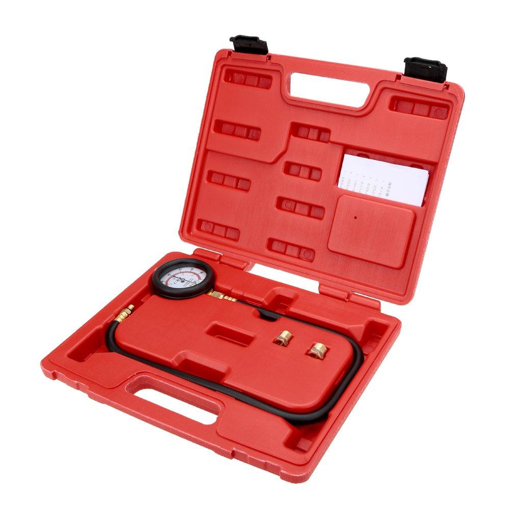 Benzina Test 0-100psi KKmoon Pompa di Iniezione Carburante Manometro Tester Iniettore
