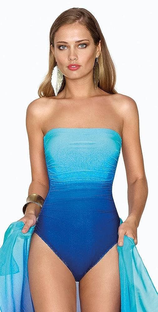 d8bcae6995 Roidal Brasil Nadia Ombre Bandeau Swimsuit: Amazon.co.uk: Clothing
