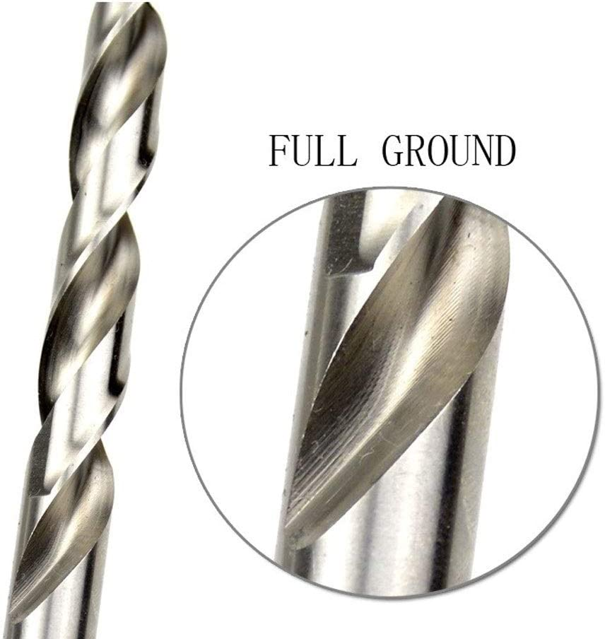 XYBW HSS M2(6542) HSS Drill Bits for Hard Metal Twist Drill Bits 1mm - 13mm Split Tip Stainless Steel Drill Bits (Color : 12mm 5 pieces) 12.5mm 5 Pieces