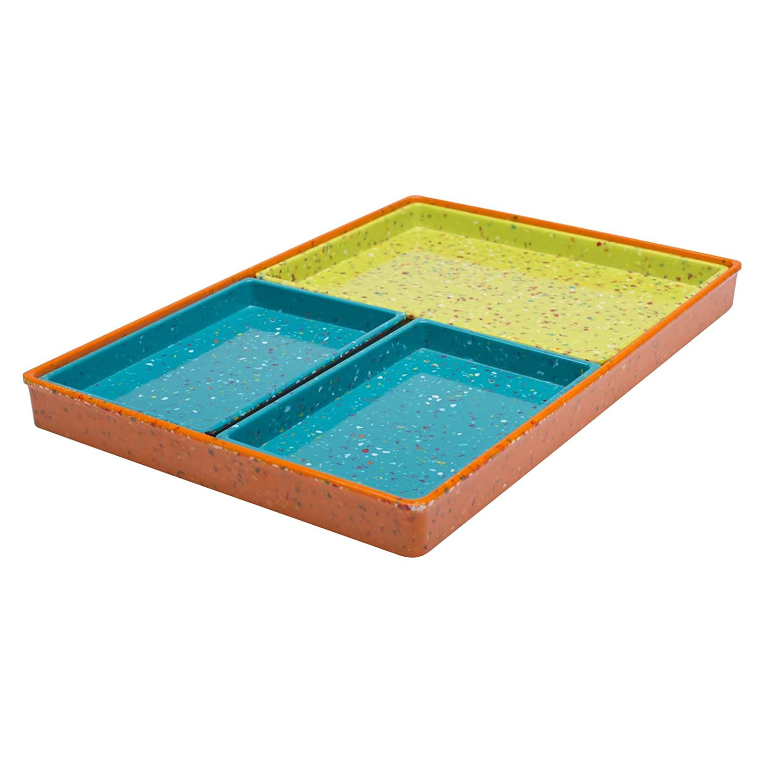超人気 Zak! Designs Confetti Modular Serving Modular Tray Set Designs (4 by Piece Set), Durable and BPA-free Melamine, Assorted Orange by Zak Designs Assorted Orange B00KDGUPRO, 松川村:3a8e7eed --- a0267596.xsph.ru