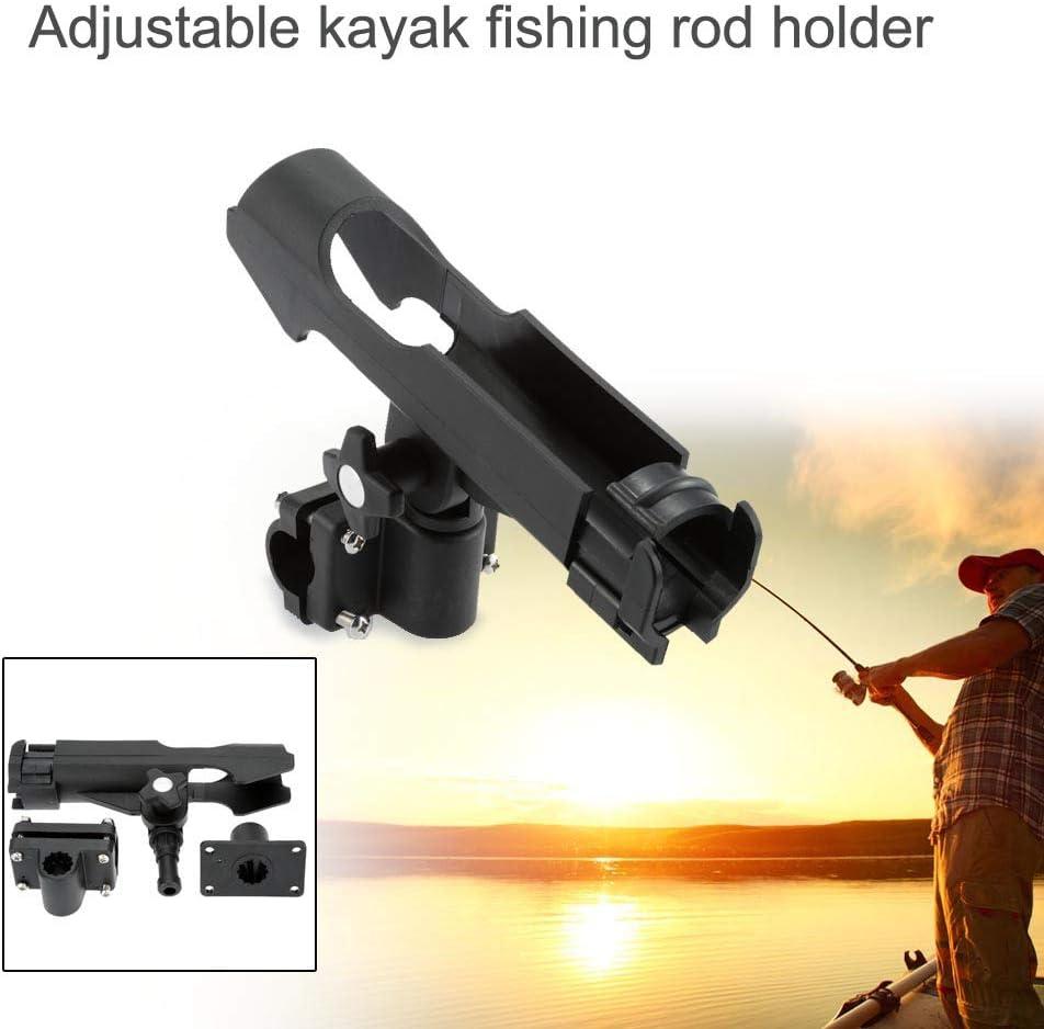 JSHANMEI Adjustable Fishing Boat Rods Holder 360 Degree Fishing Pole Rod Racks with Large Clamp Folding Holder