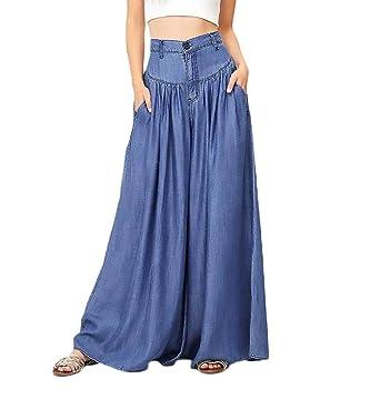 Alessioy Verano Primavera Mujer Moda Pantalon Falda Bolsillos ...