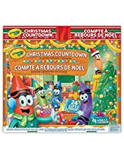 Crayola 04-3808 Christmas Countdown Activity Advent Calendar, Gift for Kids, Ages 3,4, 5, 6 and Up, Arts and Crafts, Gifting