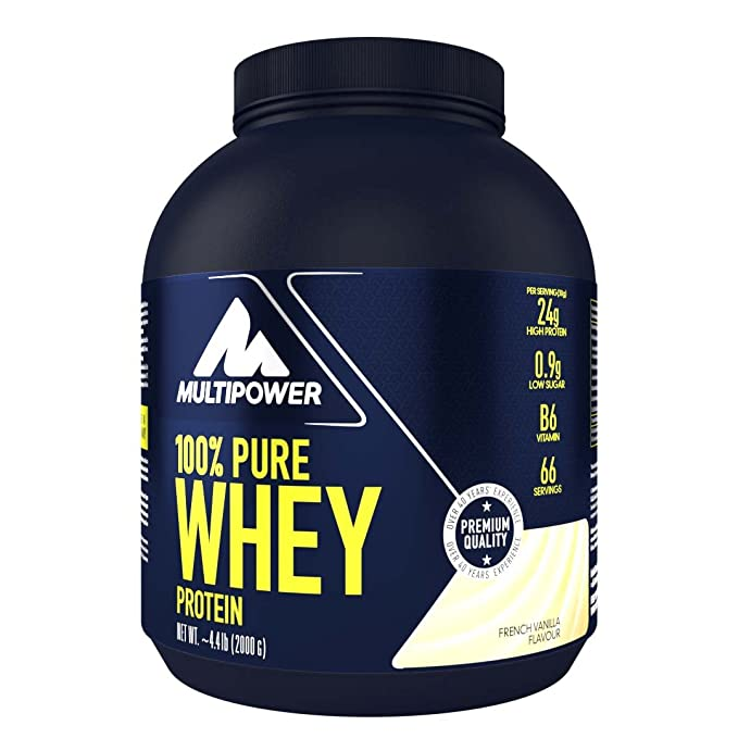 Multipower 100% Whey Protein French Vanilla - 2000 gr: Amazon.es: Salud y cuidado personal