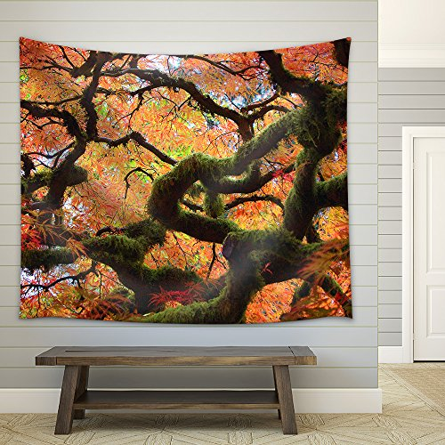 Gnarly Japanese Maple Tree Fabric Wall Tapestry