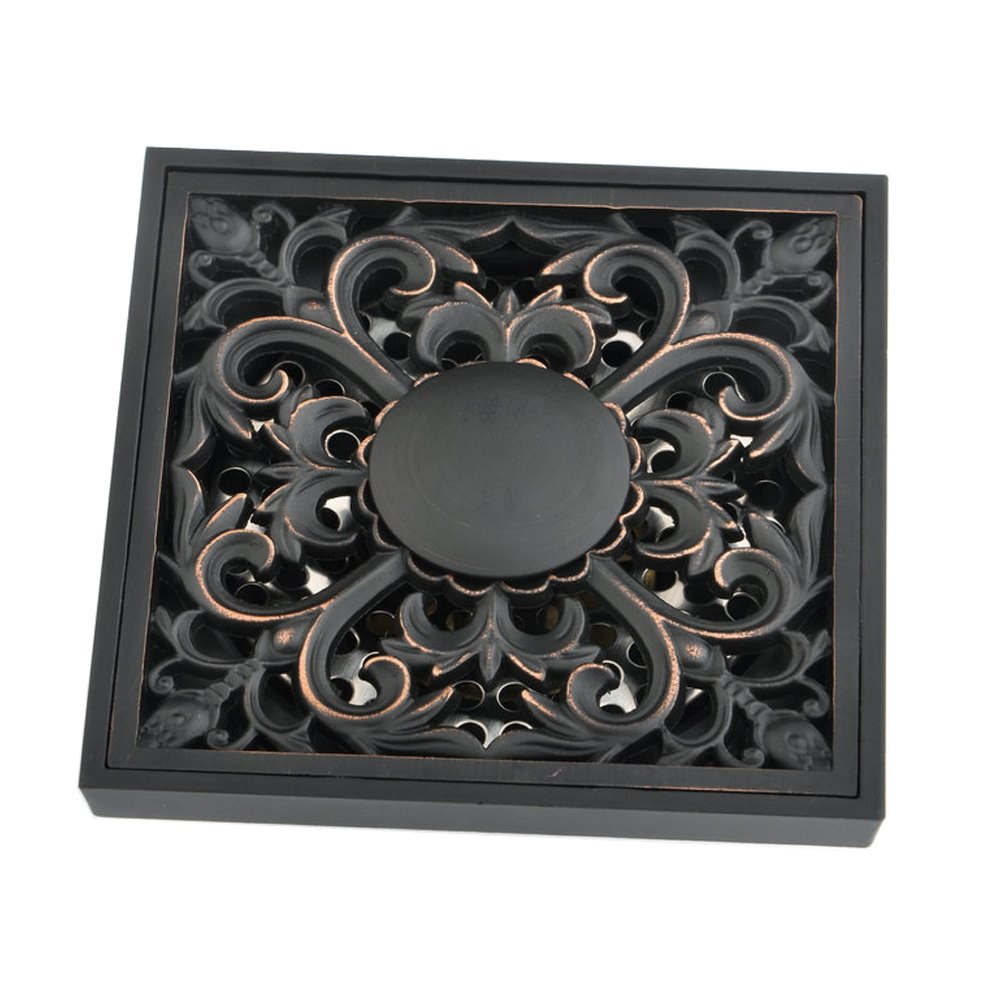 outlet Beelee Bathroom Accessory Square Waste Water Floor Drain, Oil Rubbed Bronze