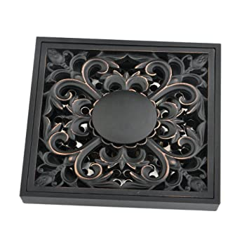 Oil Rubbed Bronze Bathroom Floor Drain Grid Style Shower Grate Waste Stainless