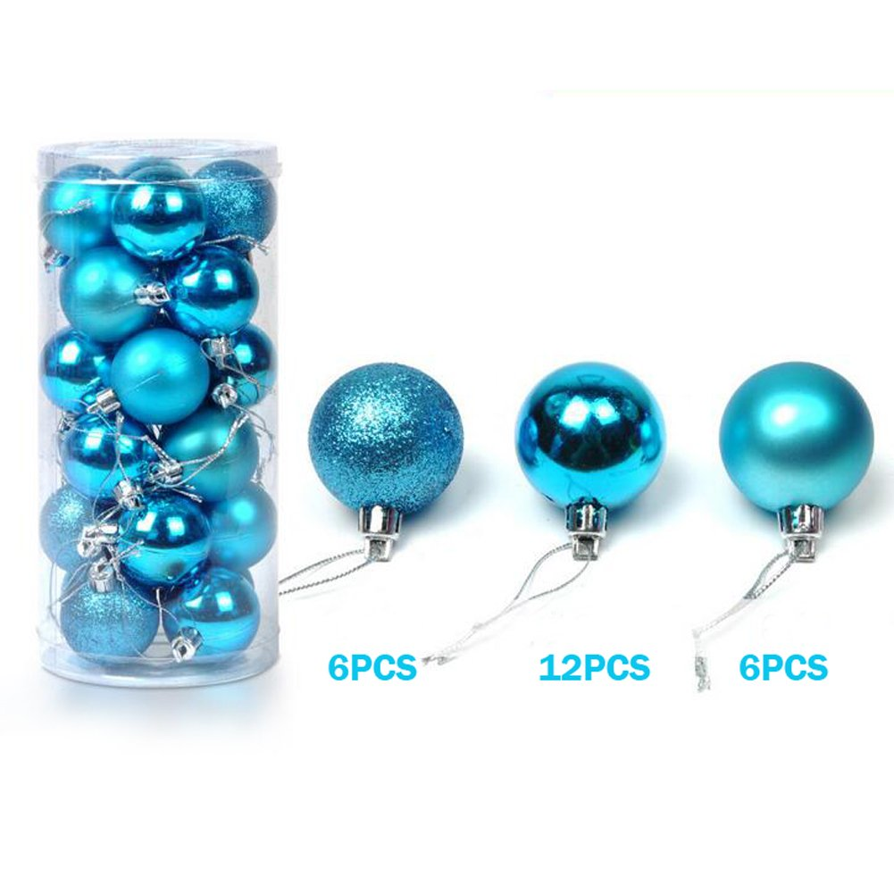Amazon.com: XHSP 24pcs Barrelled Bright Colorful Plastic Christmas ...