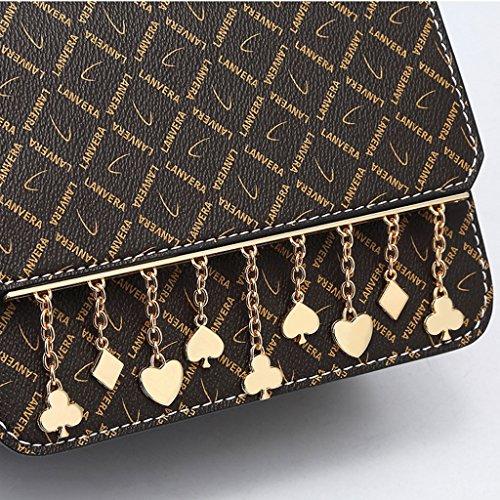 sac Lxf20 féminin à main épaule européenne sac bandoulière carré PVC à Caramel Color une américaine petit sac mode main Sac et rv1SrxwgFq