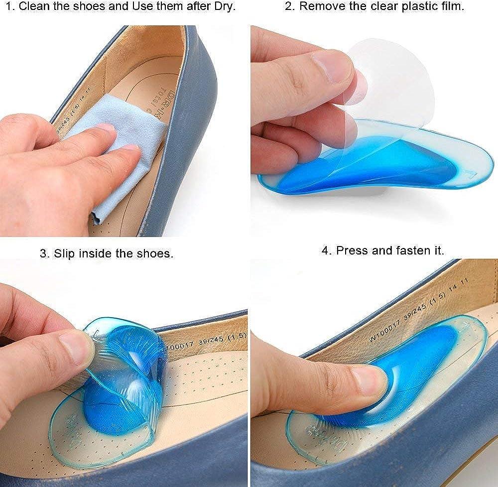 1/paia solette supporto plantare piede piatto correzione sollievo dal dolore shoe Pads Cushion Foot Center Protector calzature per bambini L Large
