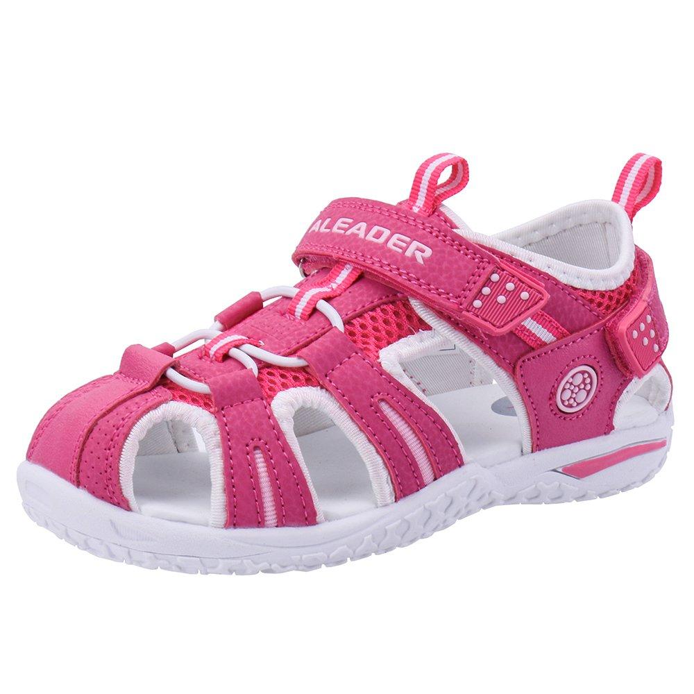 ALEADER Boys Girls Athletic Sport Water Walking Sandals (Toddler/Little Kid/Big Kid) Red 12.5 M US Little Kid