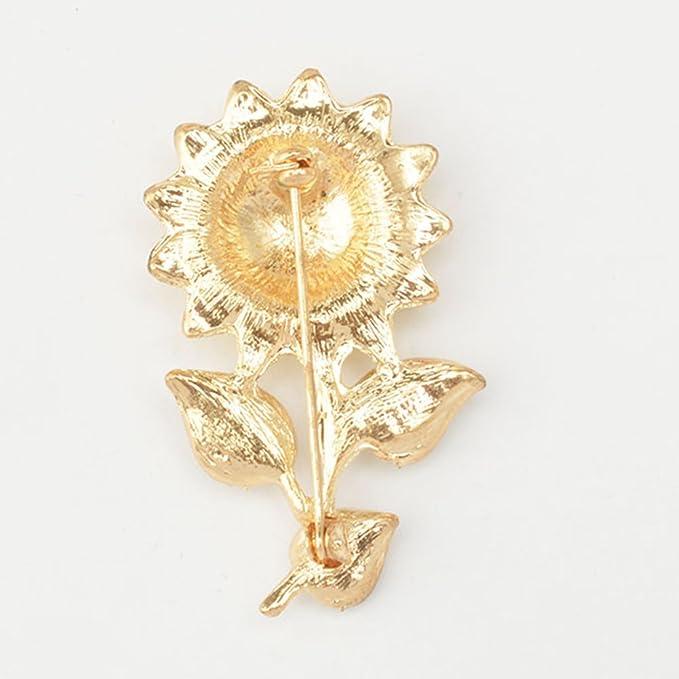 BESTOYARD Sunflower Brooches Rhinestones Brooch Pin Breastpin Jewelry Accessories Gift for Women Girls