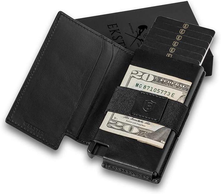 Blocage RFID Ekster Parliament Acc/ès rapide aux cartes Portefeuille en cuir fin