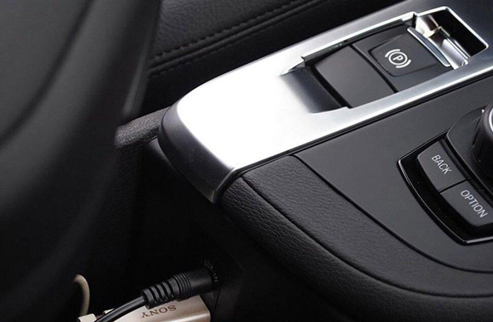 Voiture /à lint/érieur Accessoires Console Centrale ABS Chrome Gear Shift Panel Coque en sequins