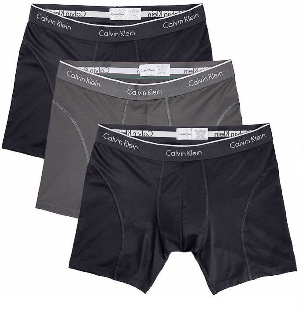Calvin Klein Boxer Brief Extreme Comfort Breathable Mesh New Style (Large, Black - 3 Pack) by Calvin Klein