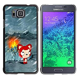 Impact Case Cover with Art Pattern Designs FOR Samsung ALPHA G850 Cute Winter Cat Betty shop