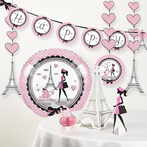 Creative Converting Party in Paris Birthday Party Decorations Kit]()