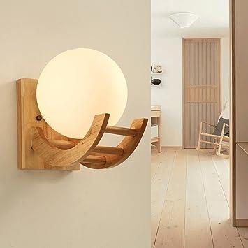 Amazon.com: Vintage Wood Wall Lamp, Antique Single Head LED ...