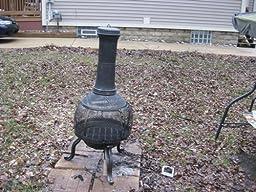 Amazon Com Deckmate Sonora Outdoor Chimenea Fireplace
