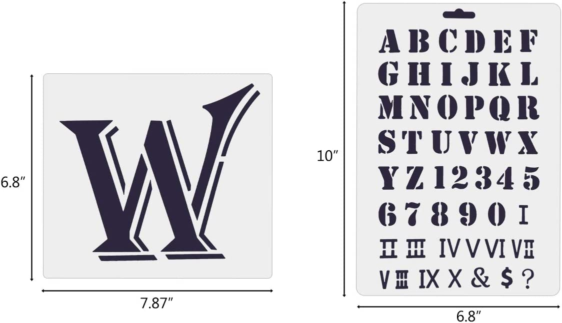 Set of 10 8 Packs Welcome Sign Stencils for Painting on Wood Porch /& 2 Packs English Alphabet Stencils Reusable Mylar Template DIY Craft Stencils