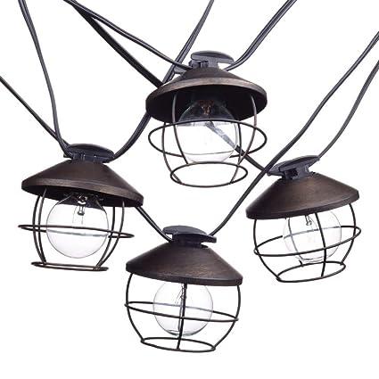 Amazon Com Globe Electric 12949 Chicago String Lights Black Home