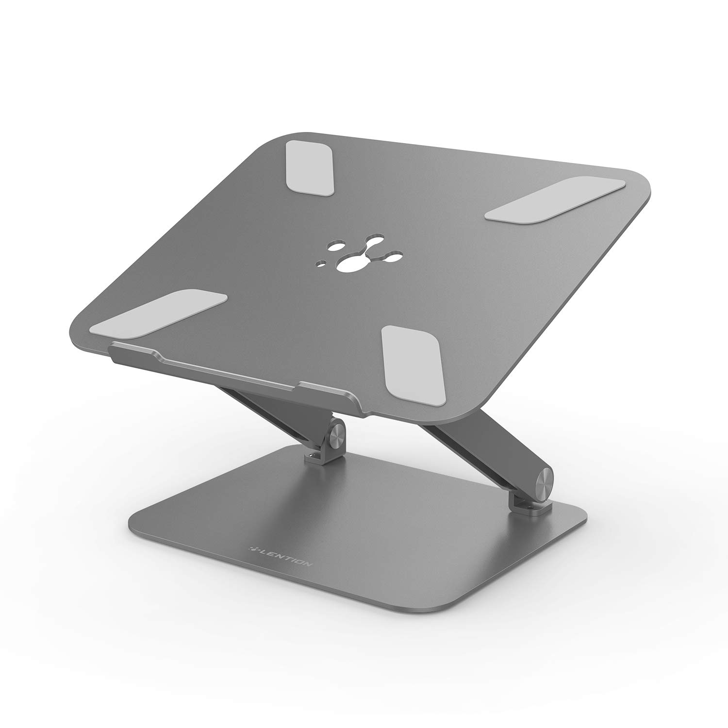 LENTION L5 Adjustable Height with Multiply Angle Laptop Notebook Stand with Adjustable Riser Compatible with MacBook Pro/Air, Surface Laptop and More - Space Gray by LENTION