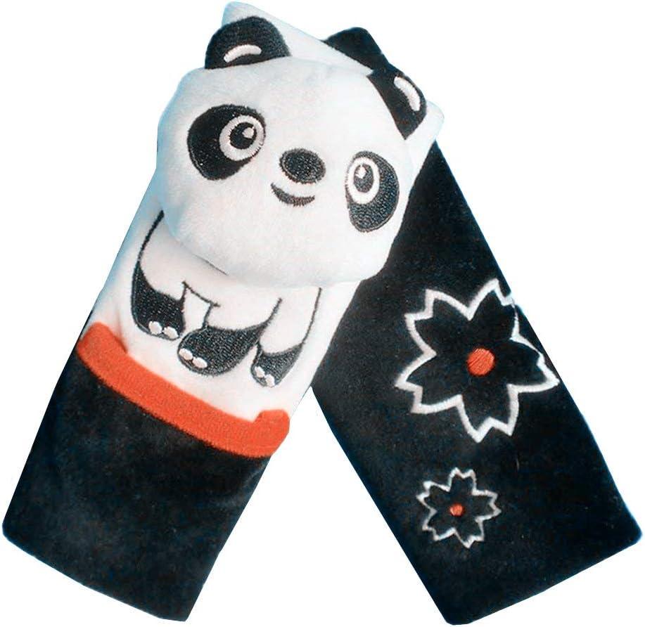 Panda negro Ni/ños Capas Dobles Animal de Historieta Suave del Arn/és de Correa Del Cintur/ón de Seguridad Cubre Padds para Carro de Beb/é Coche