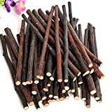 Da.Wa 500g Natural Sticks Molar Toys Animals Chew Stick Toys Treats Small Animals Chewing Wooden Toys for Chinchilla Guinea-pig Hamster