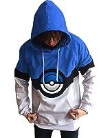 Hmamliel Men's Pokemon elves ball loose hooded casual printing fleece