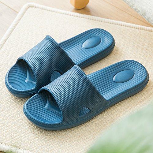 fankou Slippers Women Indoor Cool Slippers Summer Home Interior Home Bath Anti-Slip Slippers Bathroom Slippers for Couples Male Female,39-40, Dark Blue