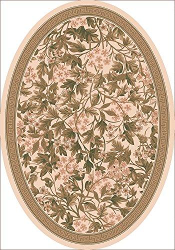 Milliken Sand - Pastiche Delphi Floral Sand Rug Rug Size: Oval 7'8