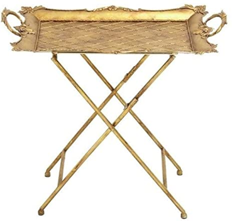 Metal Serving Tray Table Stand (28 Inches Wide X 26 Inches High) Dining  Coffee
