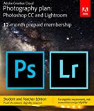 Adobe Creative Cloud Photography plan (Photoshop CC + Lightroom) Student and Teacher [Key Card] - Validation Required