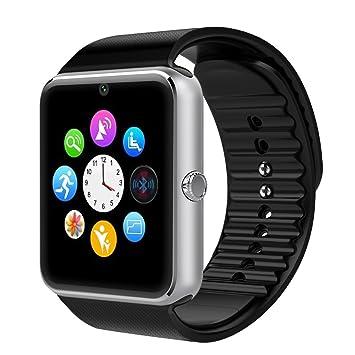 Bluetooth Smart Watch -Yarrashop Montre-bracelet avec caméra Carte SIM Slot Smart Phone Watch