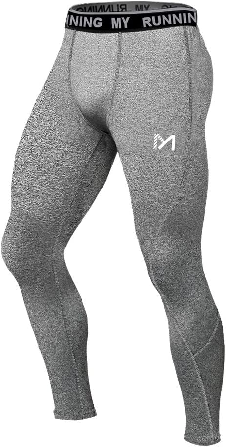 MEETYOO Legging Homme Sport Pantalons et Compression Collant Cool Dry Fitness Musculation Respirant Base Layer pour Running Jogging Cyclisme Course