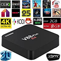 Vipwind V88 Plus Android TV Box RK3229 Quad Core UHD 4K HDMI 2G/8G WiFi AirPlay Miracast HD Media Player Smart TV Box