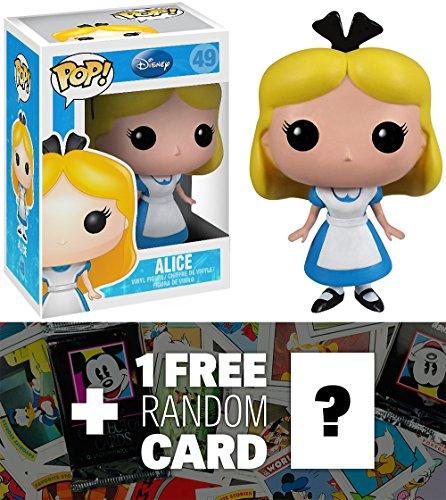Alice: Funko POP! x Disney Alice in Wonderland Vinyl Figure + 1 FREE Classic Disney Trading Card Bundle