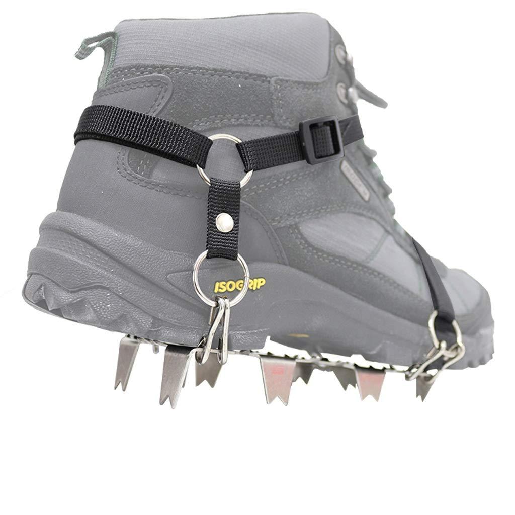 Crampons Outdoor-Bergsteigen Rutschfester Schuh bedeckt Schnee Schneeklauen Edelstahl-Schuh bedeckt Eisfang