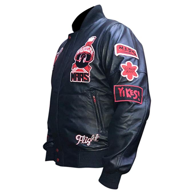 9092f39b40a8 Men s Air Jordan Marvin The Martian Bomber Leather Jacket at Amazon Men s  Clothing store