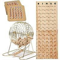 GSE Games & - Juego de Bingo de Lujo con Bolas de Bingo y Tarjetas de Bingo (latón y Negro)
